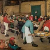 Bauernhochzeit (1.4 MB) Pieter Bruegel d. Ä. (um 1525/30 ‒ 1569) Um 1567, Eichenholz, 114 × 164 cm Kunsthistorisches Museum Wien, Gemäldegalerie © KHM-Museumsverband