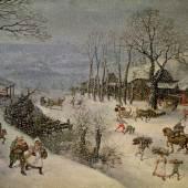 Winterlandschaft Lucas I. van Valckenborch 1586 Leinwand, 117 x 198 cm © Wien, Kunsthistorisches Museum