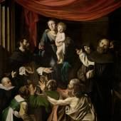 Michelangelo Merisi, gen. Caravaggio (1571 Mailand-1610 Porto Ercole) Rosenkranzmadonna um 1601 Leinwand 364,5 × 249,5 cm Kunsthistorisches Museum Wien, Gemäldegalerie © KHM-Museumsverband