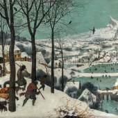 Die Jäger im Schnee (1.8 MB) Pieter Bruegel d. Ä. (um 1525/30 ‒ 1569) 1565, Eichenholz, 117 × 162 cm Kunsthistorisches Museum Wien, Gemäldegalerie © KHM-Museumsverband