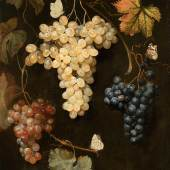 Weintrauben und Schmetterlinge (1.6 MB) Philipp Ferdinand de Hamilton (um 1667 Brüssel – 1750 Wien) Vor 1747 Leinwand, H. 58,5 cm, B. 41,5 cm ©Kunsthistorisches Museum Wien