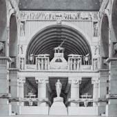 Giorgio Fuentes (1756–1821) Indischer Tempel Feder und Pinsel auf Büttenpapier, 259 × 354 mm Städel Museum, Frankfurt am Main © Städel Museum, Foto: U. Edelmann