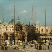 Giovanni Antonio Canaletto, Der Markusplatz in Venedig, 1740-50, © Arp Museum Bahnhof Rolandseck, Sammlung Rau für UNICEF, Foto Horst Bernhard