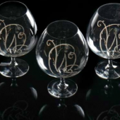 Sir Winston Churchill,  Three further glasses can now be included in this auction.