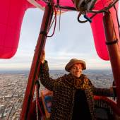 Barbara Anna Husar, EUTERerhebung am Nationalfeiertag über Wien, Foto: Regina Hügli, Bildrecht, Wien 2020