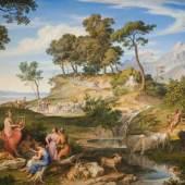 Josef Anton Koch Landschaft mit Apollo unter den Hirten, 1837  Öl auf Leinwand 80,8 x 122,0 cm Tiroler Landesmuseen, Ältere Kunstgeschichtliche Sammlungen  Inv.-Nr. Gem/356  © TLM