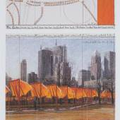 """Goodwin Gallery Christo """"The Gates"""", 2003, Lithograph on hammered paper, 62 x 42 cm (framed)"""