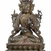 Lot Nr. 204 Bedeutende Guanyin Bronze-Figur aus der frühen Ming-Periode, 15. Jh. Schätzwert € 14.000 - 18.000   Download Fotos: Copyright Dorotheum