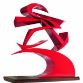 Giacomo Balla (1871 - 1958) Linee di forza del pugno di Boccioni II, 1915/1968, Messingblech armiert, rot lackiert, 80,5 x 75,5 x 25,5 cm Schätzwert € 50.000 - 70.000 Auktion 28. November 2013