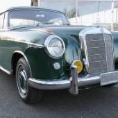 Lot Nr. 318 1958 Mercedes-Benz 220 S Coupe, eines von 37 gebauten Schiebdachcoupes erzielter Preis € 63.840