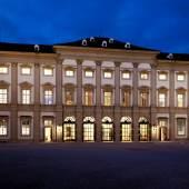 GARTENPALAIS Liechtenstein Südfassade bei Nacht  © Palais Liechtenstein GmbH/ Akodu