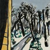"""Max Beckmann. """"Tiergarten im Winter"""". 1937. Öl auf Leinwand. Schätzpreis EUR 700.000-1.000.000"""