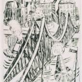 Große Brücke (Eiserner Steg), 1922 Radierung, 42,8 x 25,9 cm Sammlung Volhard, Frankfurt a.M. © Foto: Michael Meisen