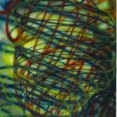 Katharina Grosse, o.T., 2013, Acryl auf Papier, 120,2 x 88,5 cm, Staatsgalerie Stuttgart, © Katharina Grosse / VG Bild-Kunst, Bonn 2015