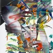 Katharina Grosse, o.T., 2007, Acryl auf Papier, 100 x 70,6 cm, Staatsgalerie Stuttgart, © Katharina Grosse / VG Bild-Kunst, Bonn 2015