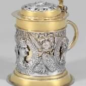 Großer Augsburger Deckelhumpen mit römischen Porträts Mindestpreis:12.000 EUR