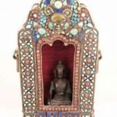 Großer tragbarer Prunkschrein (Gau) - Tibet 19.Jh.,schweres Doppelgehäuse, Aufrufpreis:4.500 EUR