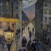 Hans Baluschek Großstadtwinkel, 1929 Öl auf Leinwand © Stiftung Stadtmuseum Berlin/Reproduktion: Gunter Lepkowski, Berlin