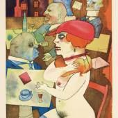 George Grosz (1893-1959),  Schönheit, dich will ich preisen,  Bl. 3 der Mappe ›Ecce homo‹, 1920,  Karton, Offset,  Stiftung Deutsches Historisches Museum, Berlin  © Estate of George Grosz, Princeton N.J. / VG Bild-Kunst, Bonn 2019