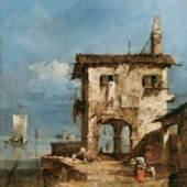 Francesco Guardi, Capriccio. Altes Haus in der Lagune, 1781, Öl auf Holz, 20,5 x 16,2 cm, Kunsthaus Zürich, Stiftung Betty und David Koetser