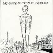 Günter Brus, 'Das gute alte West-Berlin', 2016 Tusche auf Papier, 29,7 x 21 cm BRUSEUM/Neue Galerie Graz, UMJ