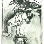 Günter Brus, Sacher-Masoch. Venus im Pelz, 2002,  Mischtechnik auf Papier, 37teilig, je 25 x 17,5 cm, BRUSEUM/Neue Galerie Graz, UMJ