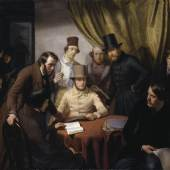 Günther Gensler (1803–1884) Die Mitglieder des Hamburger Künstlervereins 1840 (gegr. 1832), 1840 Öl auf Leinwand, 155 x 186 cm © Hamburger Kunsthalle / bpk Foto: Elke Walford