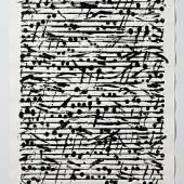 Günther Uecker Optische Partitur Ulm 2000 Lithografie, Prägedruck| 80,5 x 62cm Ergebnis: €3.840