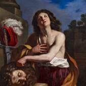 Guercino, Giovanni Francesco Barbieri (1591 – 1666)  David mit dem Haupt des Goliath Öl auf Leinwand | 117,5 x 100cm Ergebnis: 180.600 Euro Dt. Auktionsrekord*