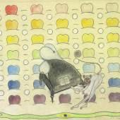 Friedrich Schröder-Sonnenstern Herzen im Schnee, 1954 Farbstift auf Papier € 20.000,- Courtesy Galerie HILT, Basel