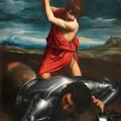 Guido Reni, David, Goliath enthauptend, 1606-1607, Öl auf Leinwand, © Remagen, Arp Museum Bahnhof Rolandseck, Sammlung Rau für UNICEF, Foto Mick Vincenz
