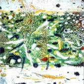 Gunter Damisch, WeissfeldweltenInnererFrühling, 2000-2001, oil on canvas, 210x195 cm