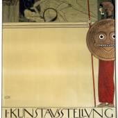Plakat für die 1. Ausstellung der Secession (unzensuriert), 1898 Gustav Klimt Farblithographie auf Papier © Wien Museum
