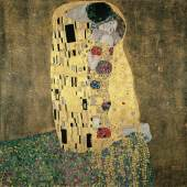 Gustav Klimt  Der Kuss, 1908  Öl auf Leinwand  180 x 180 cm  Belvedere, Wien