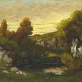Gustave Courbet Waldbach Öl auf Leinwand 50 x 61cm Ergebnis: 135.450 Euro