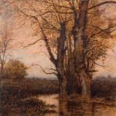 Hans am Ende, Am Wasser, Birken am Herbstabend