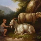 "Hackert, Jakob Philipp (1737-1807) ""Bukolische Landschaft mit Ziege, Schaf  Aufrufpreis:4.500 EUR"