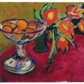 Ernst Ludwig Kirchner, Stillleben mit Orangen und Tulpen, 1909, Hilti Art Foundation
