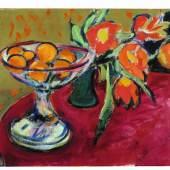 Ernst Ludwig Kirchner, Stilleben mit Orangen und Tulpen, 1909, Hilti Art Foundation