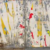 OLIVIER MALINGUE Raymond Hains 1926-2005  Tôle, 1976  Torn poster on metal sheet (diptych)  160 x 210 cm