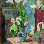 Hans Purrmann (1880 - 1966)  Blumenstillleben im Atelier des Künstlers | Um 1908 | Öl auf Leinwand | 80,5 x 64cm  Ergebnis: 103.200 Euro