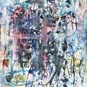 """Hans Staudacher (1923-2021), """"So oder so"""" Öl auf Leinwand, signiert und verso datiert (19)89, 130 x 100 cm Foto: © Galerie Szaal"""