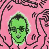 Keith Haring, Ohne Titel (Selbstporträt), 1985 Udo und Anette Brandhorst Sammlung Foto: Haydar Koyupinar, Bayerische Staatsgemäldesammlungen, München © Keith Haring Foundation