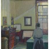 Harold Gilman Interior (Mrs Mounter), 1917 Oil on canvas £150,000-250,000