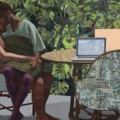 Njideka Akunyili Crosby, Garden, Thriving, 2016 © Njideka Akunyili Crosby, Courtesy the artist, Victoria Miro, and David Zwirner, Photo: Robert Glowack