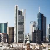 Ansicht Frankfurt bei Sonnenschein