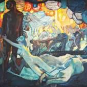 "Leo Putz (1869-1940) ""Tannhäuser im Venusberg"" Öl auf Leinwand, 1918, 72 x 77,2 cm  Foto: © Galerie Heinze"