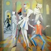 """Helmut Wellschmidt, """"Karneval"""", 2010, Öl auf Leinwand, Galerie Jacobsa"""