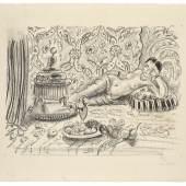Henri Matisse, Odalisque, brascero et coupe de fruits, 1929, Lithografie, © Succession H. Matisse, VG Bild-Kunst, Bonn 2018