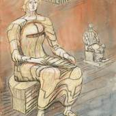 Henry Moore, Seated Woman with Seated Figure in Background, 1948 (Est. £60,000-80,000) © Henry Moore, DACS, London 2018